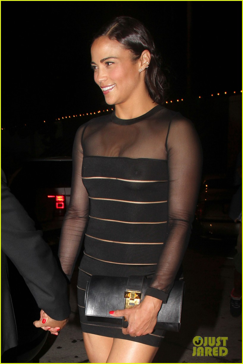 paula patton sheer dress at emmys after party 13