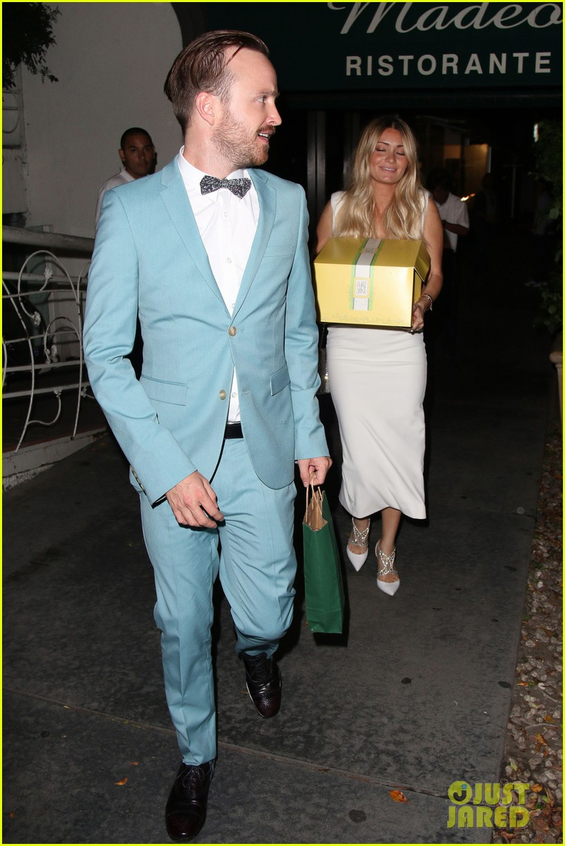 aaron paul wife lauren opens up about his emmy shout out 053185896