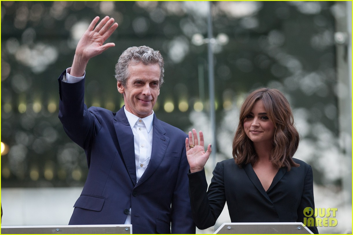 jenna coleman peter capaldi dr who london last premiere 033181685
