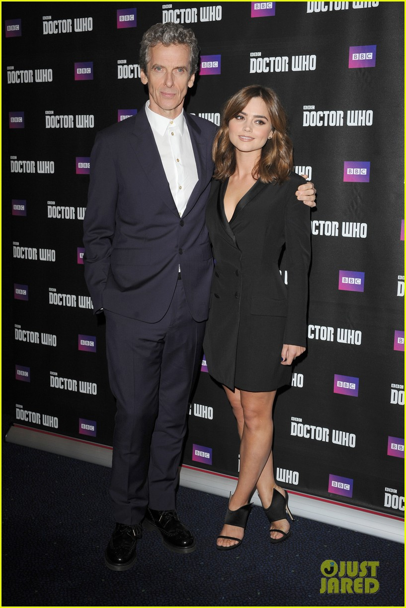jenna coleman peter capaldi dr who london last premiere 06