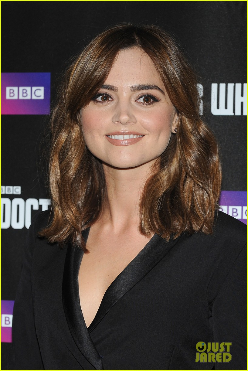 jenna coleman peter capaldi dr who london last premiere 133181695