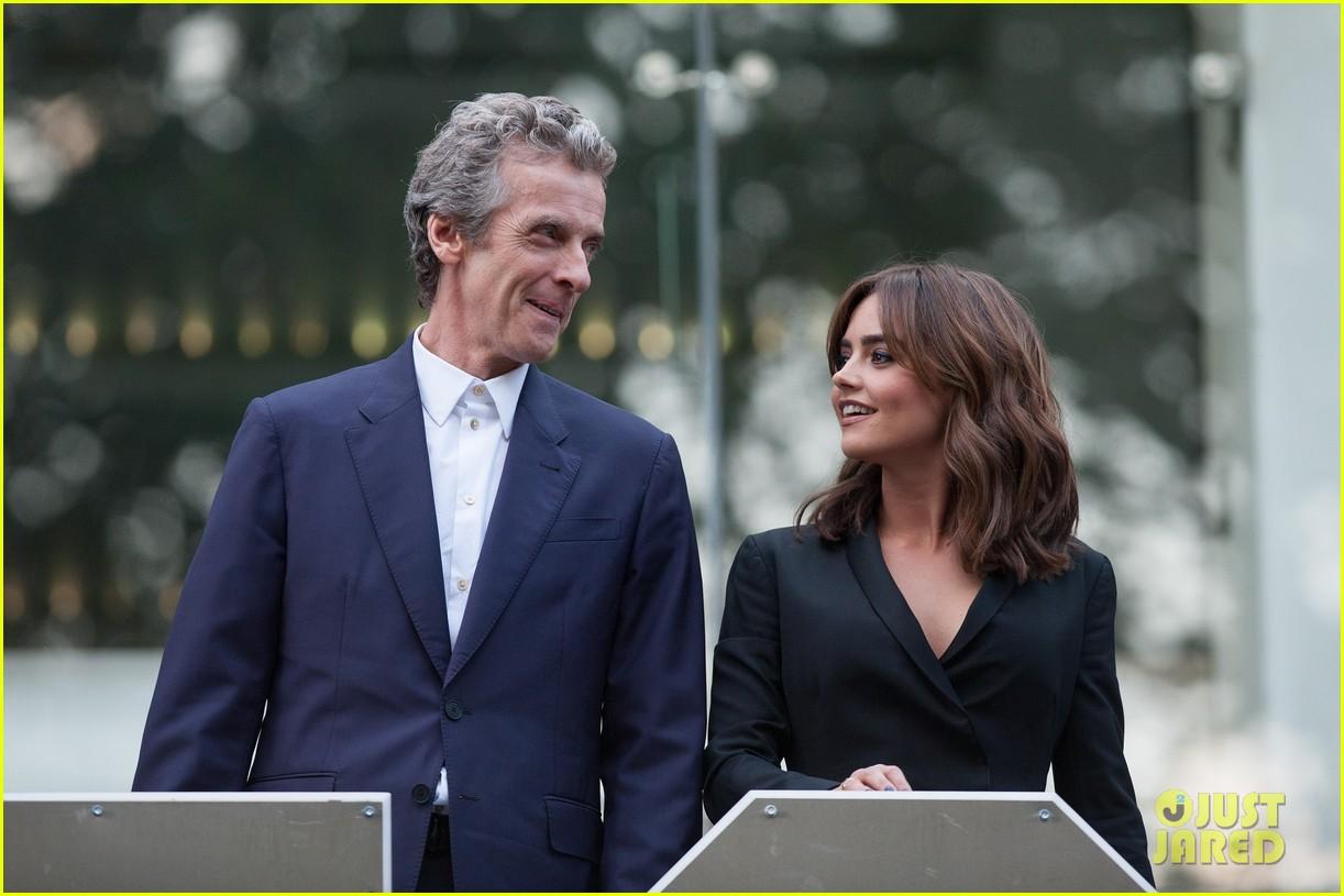 jenna coleman peter capaldi dr who london last premiere 143181696