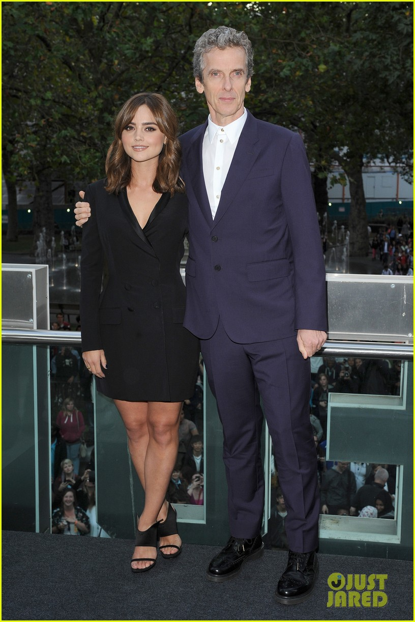 jenna coleman peter capaldi dr who london last premiere 173181699
