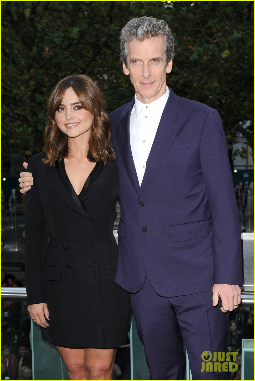 jenna coleman peter capaldi dr who london last premiere 193181701