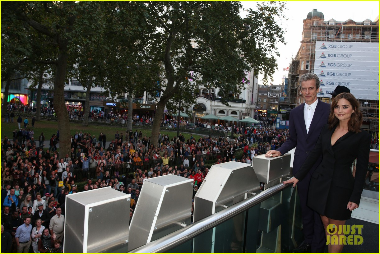 jenna coleman peter capaldi dr who london last premiere 203181702