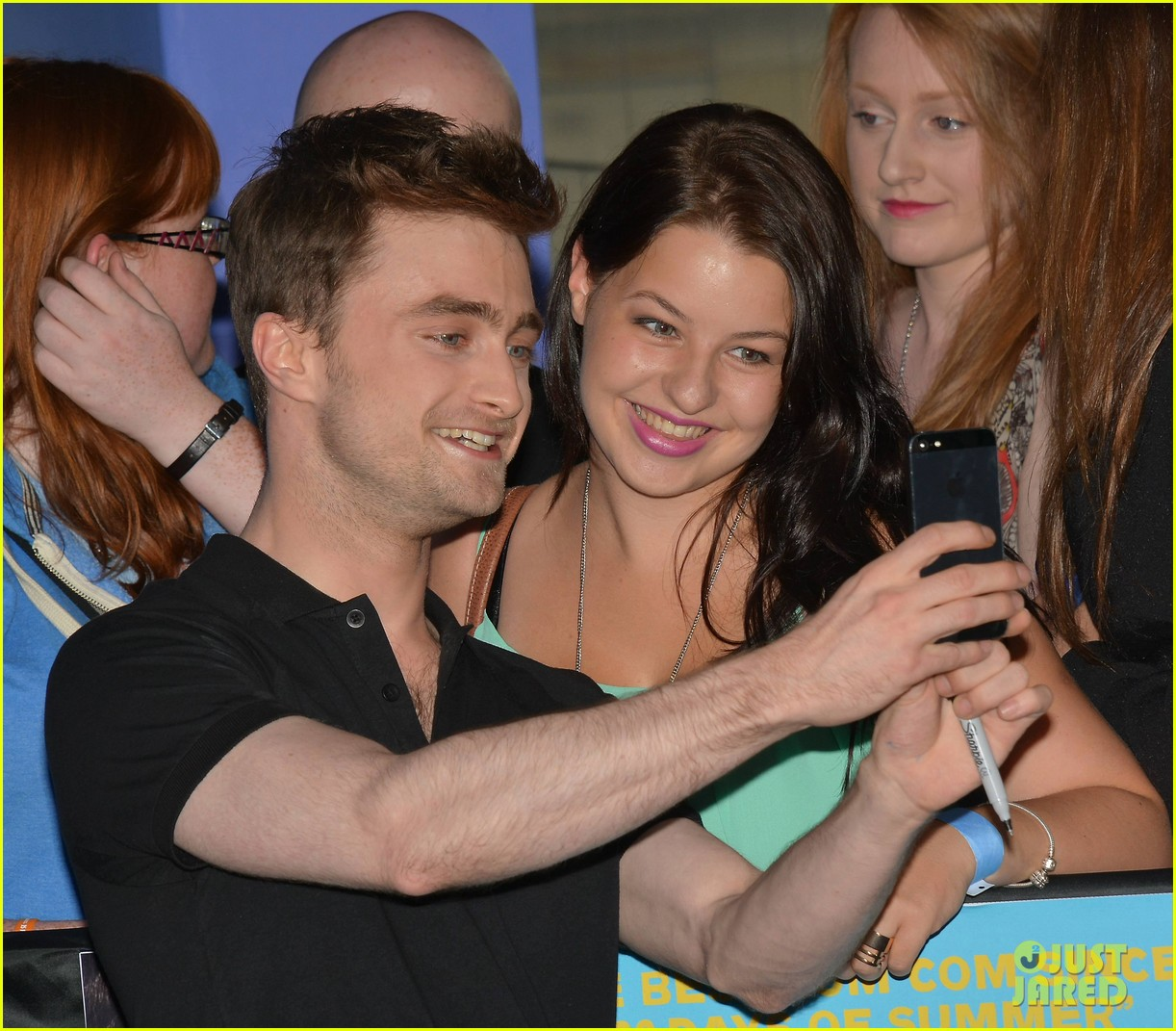 daniel radcliffe pose with fans what if dublin ireland 053177394