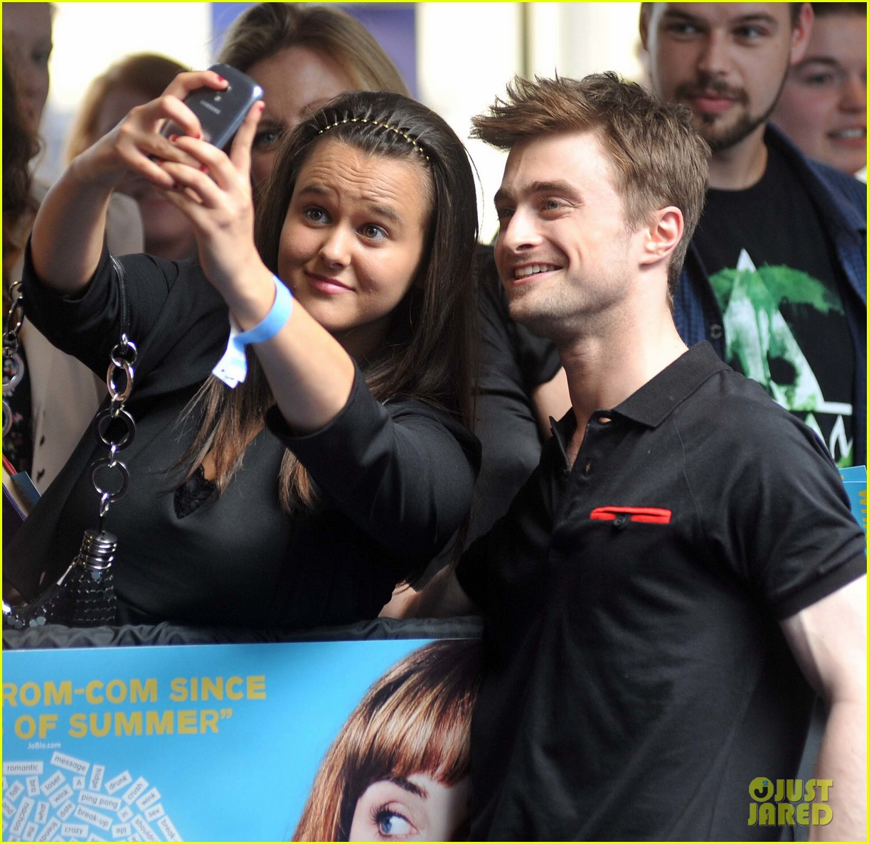 daniel radcliffe pose with fans what if dublin ireland 153177404