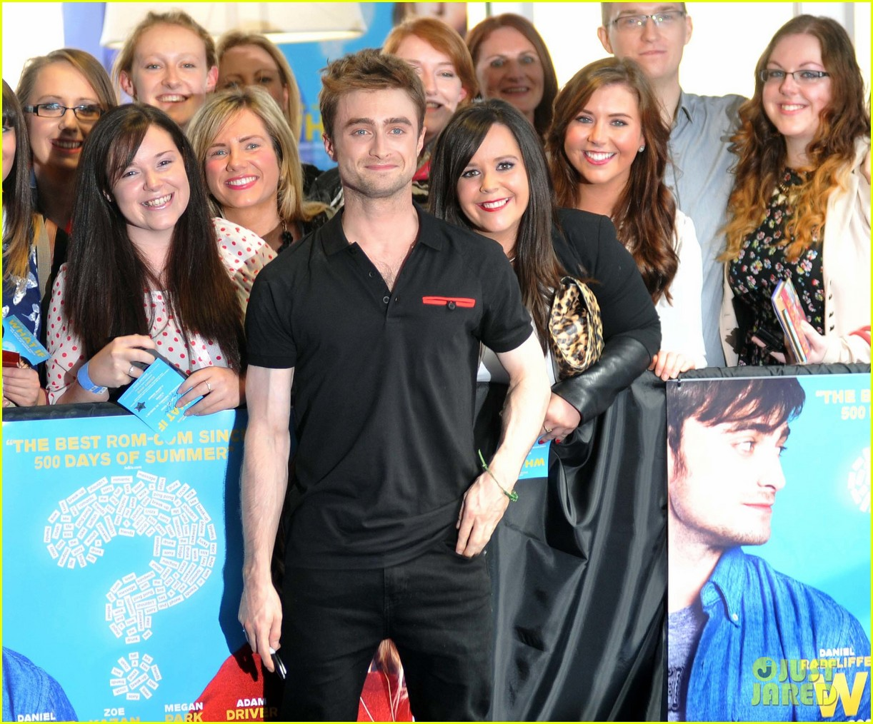 daniel radcliffe pose with fans what if dublin ireland 173177406