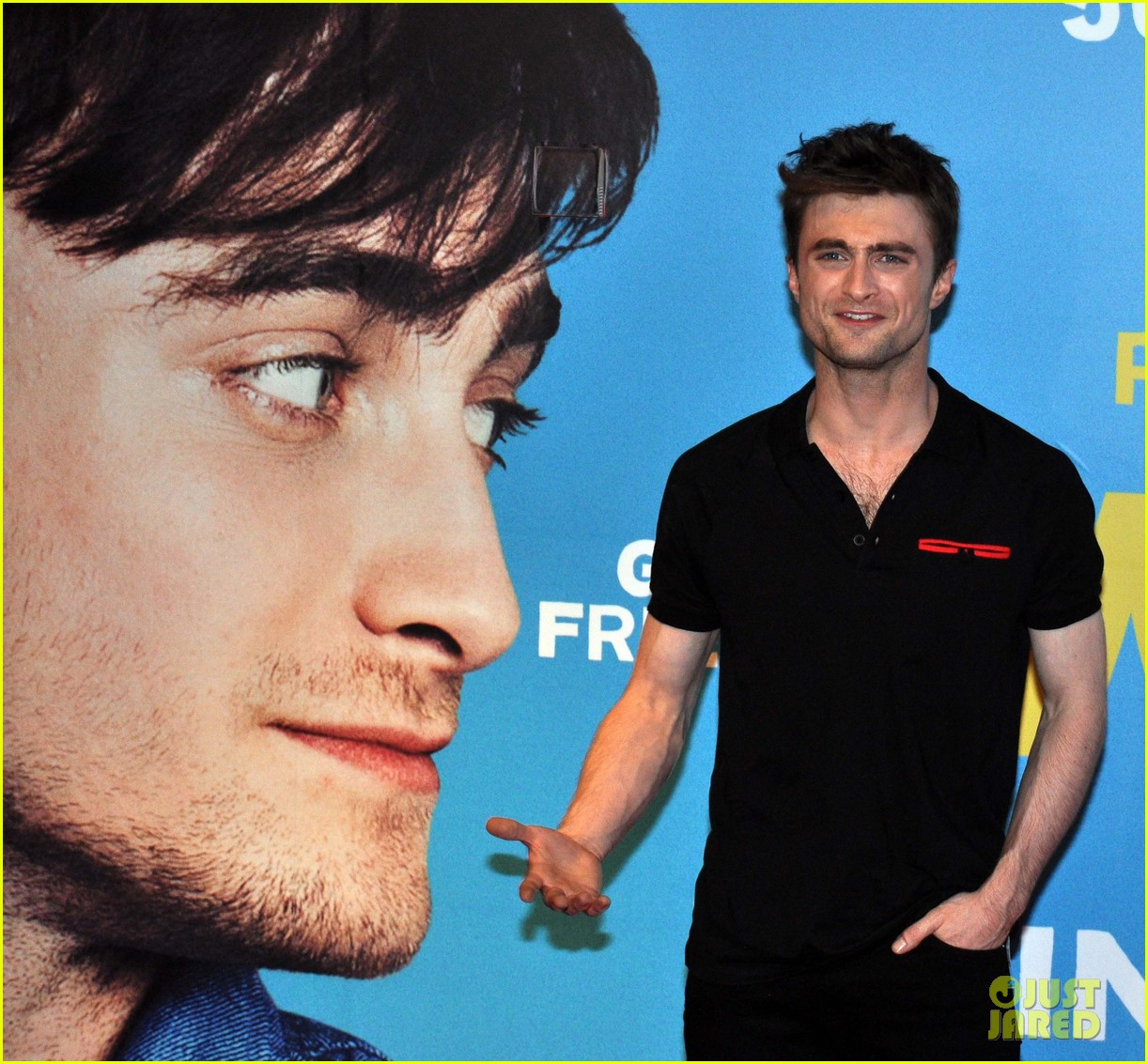 daniel radcliffe pose with fans what if dublin ireland 223177411