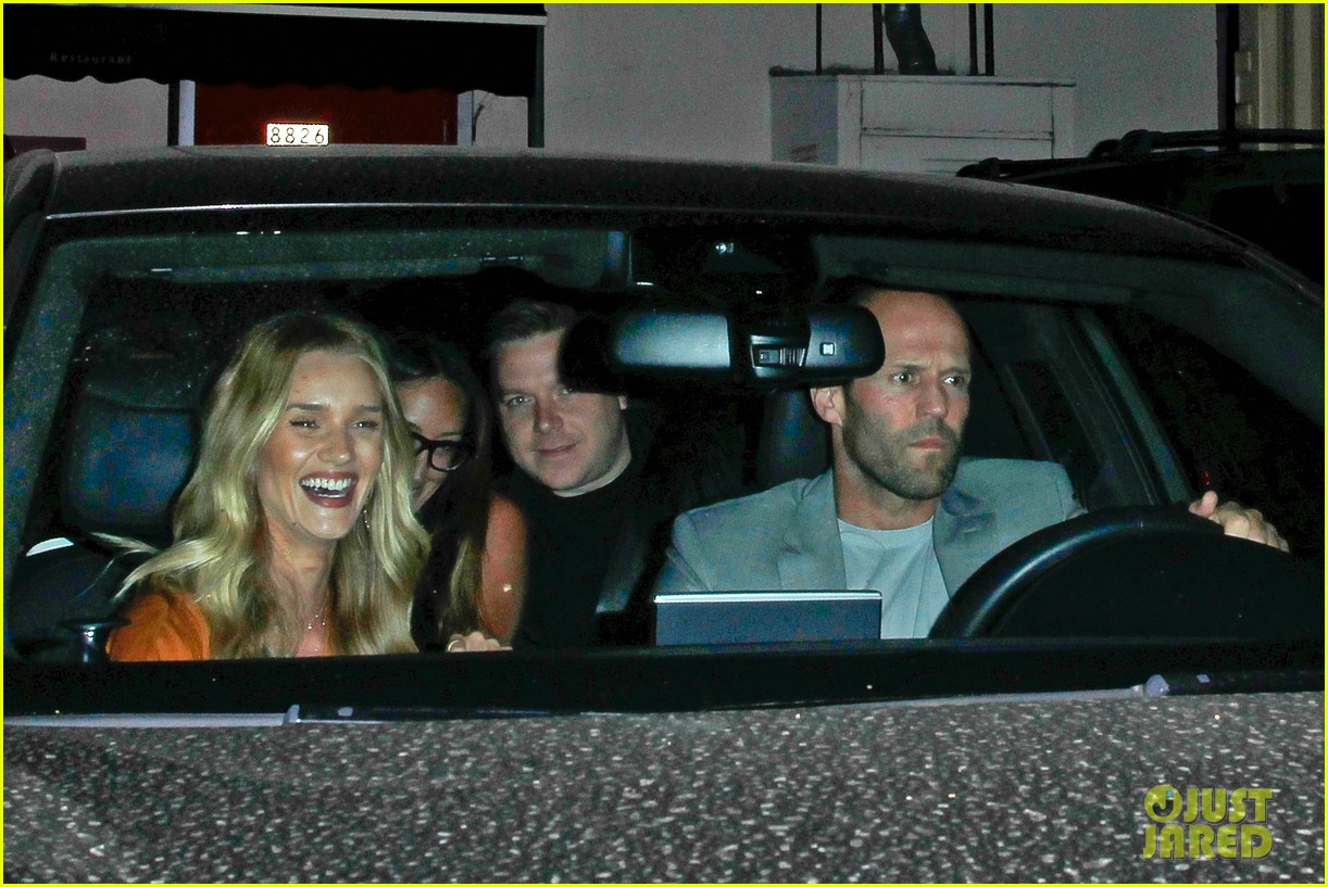 rosie huntington whiteley wears plunging dress to dinner with jason statham 05