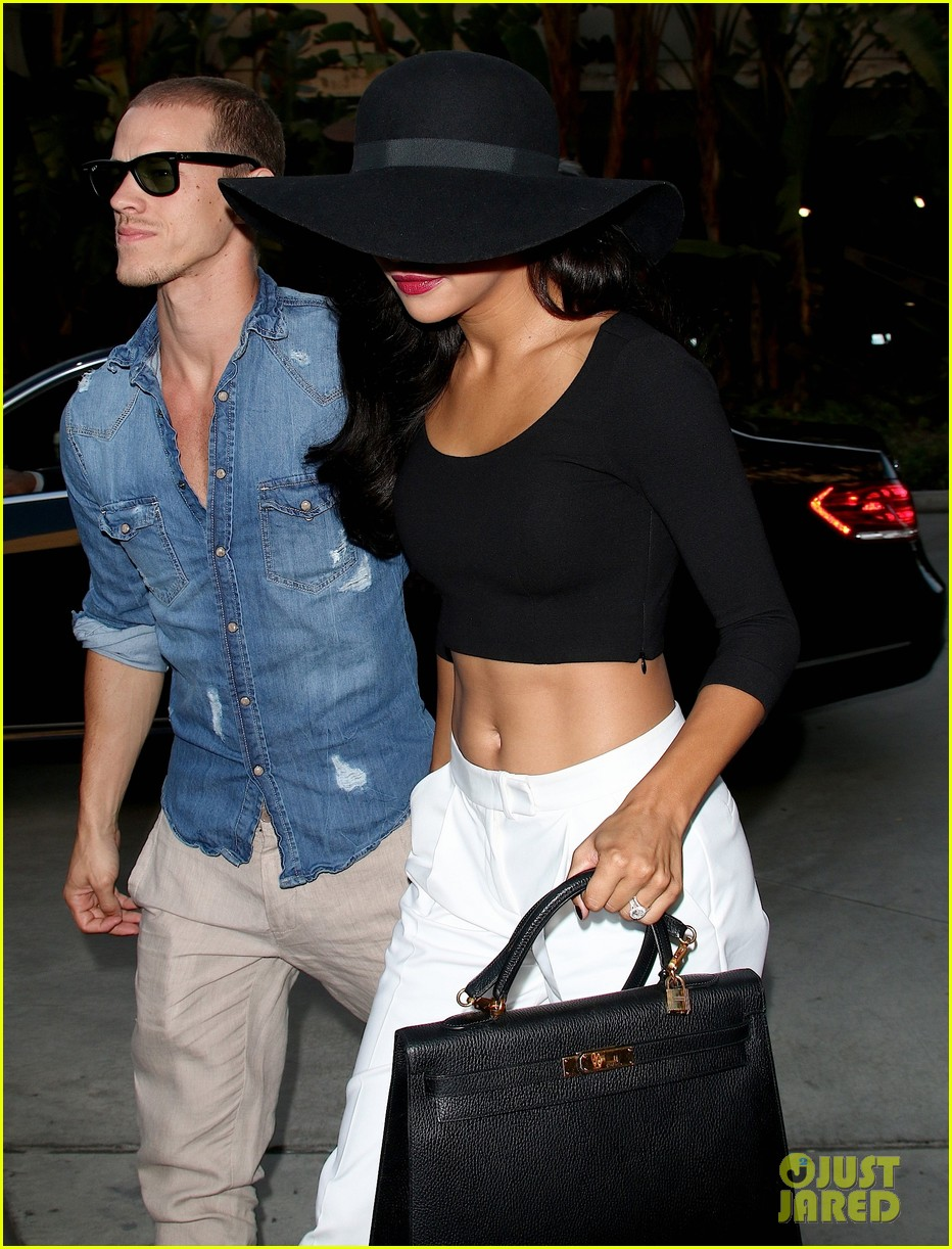 Full Sized Photo of naya rivera ryan dorsey justin ... Justin Timberlake Concert