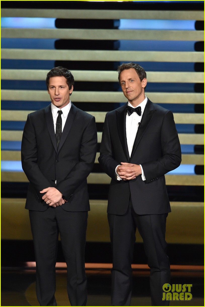 andy samberg plays game of thrones joffrey on stage at the emmys 2014 013183807