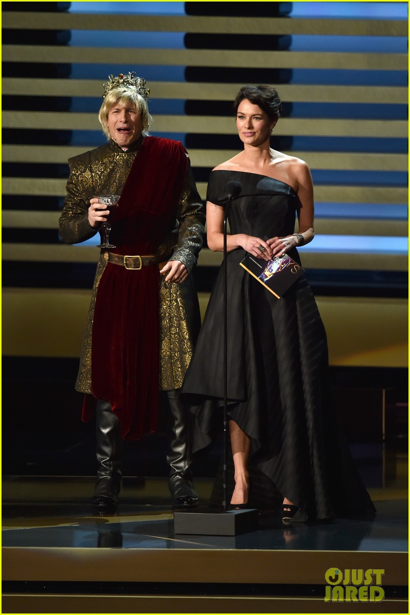 andy samberg plays game of thrones joffrey on stage at the emmys 2014 033183809