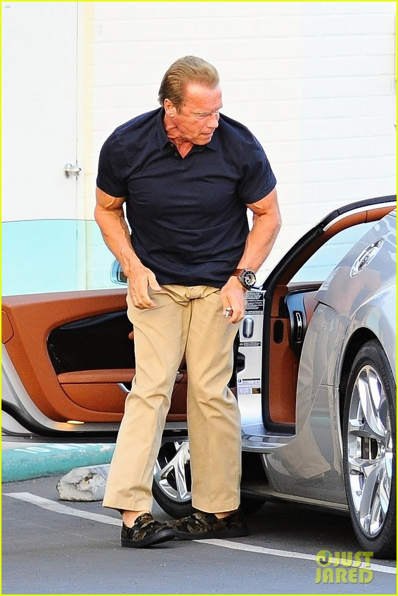 Arnold Schwarzenegger Takes Girlfriend Heather Milligan