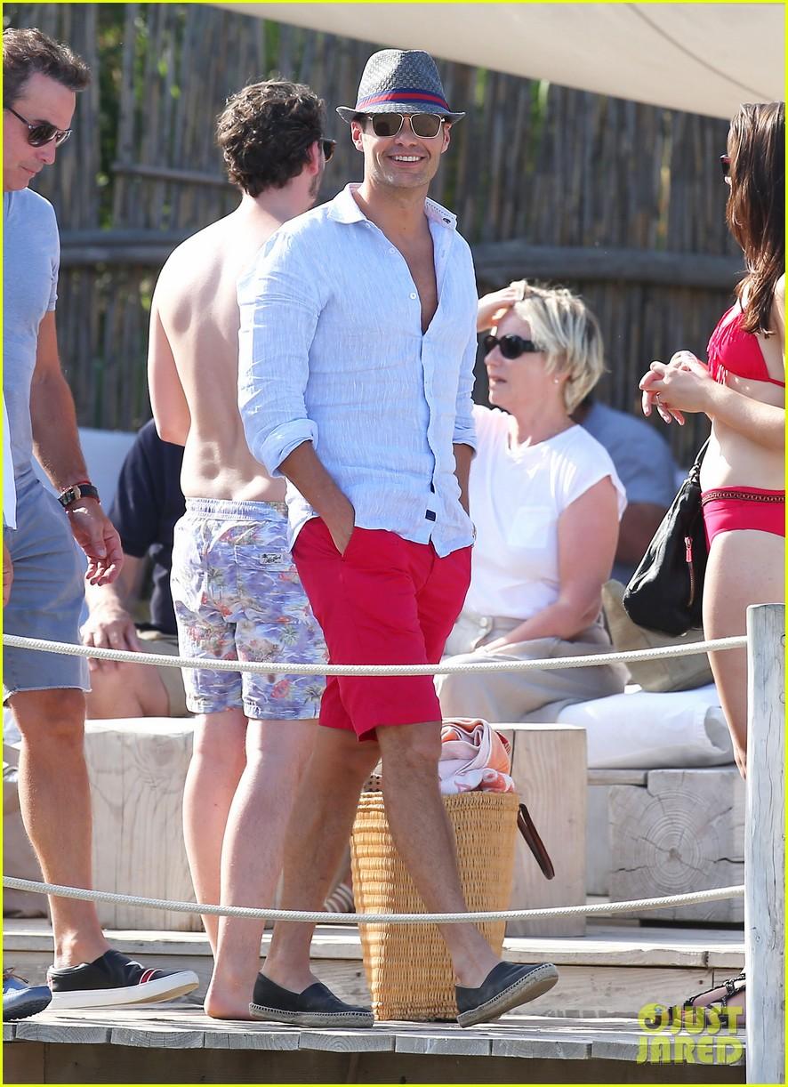 ryan seacrest shirtless yacht girlfriend shayna taylor bikini 263180457