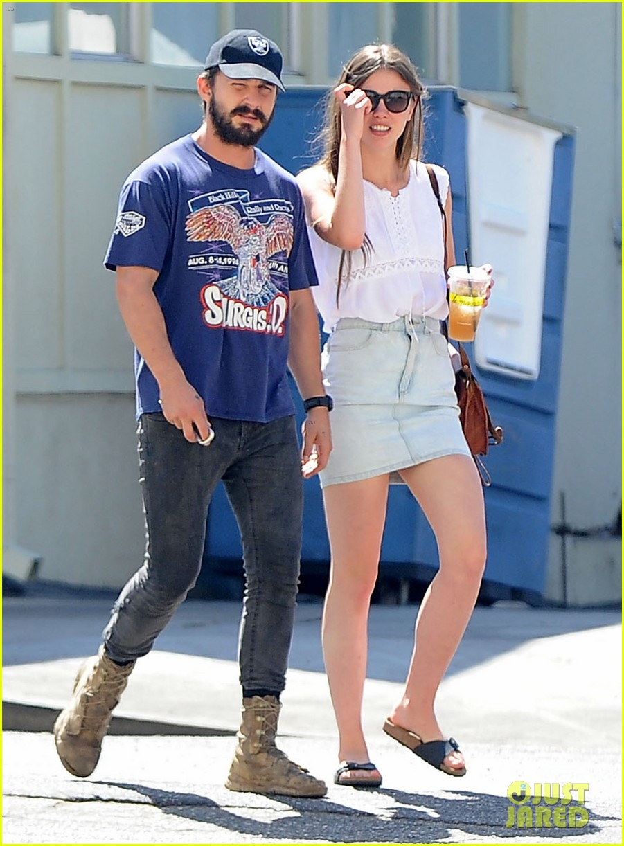 shia labeouf girlfriend mia goth lemonade lunch lovers 173186966