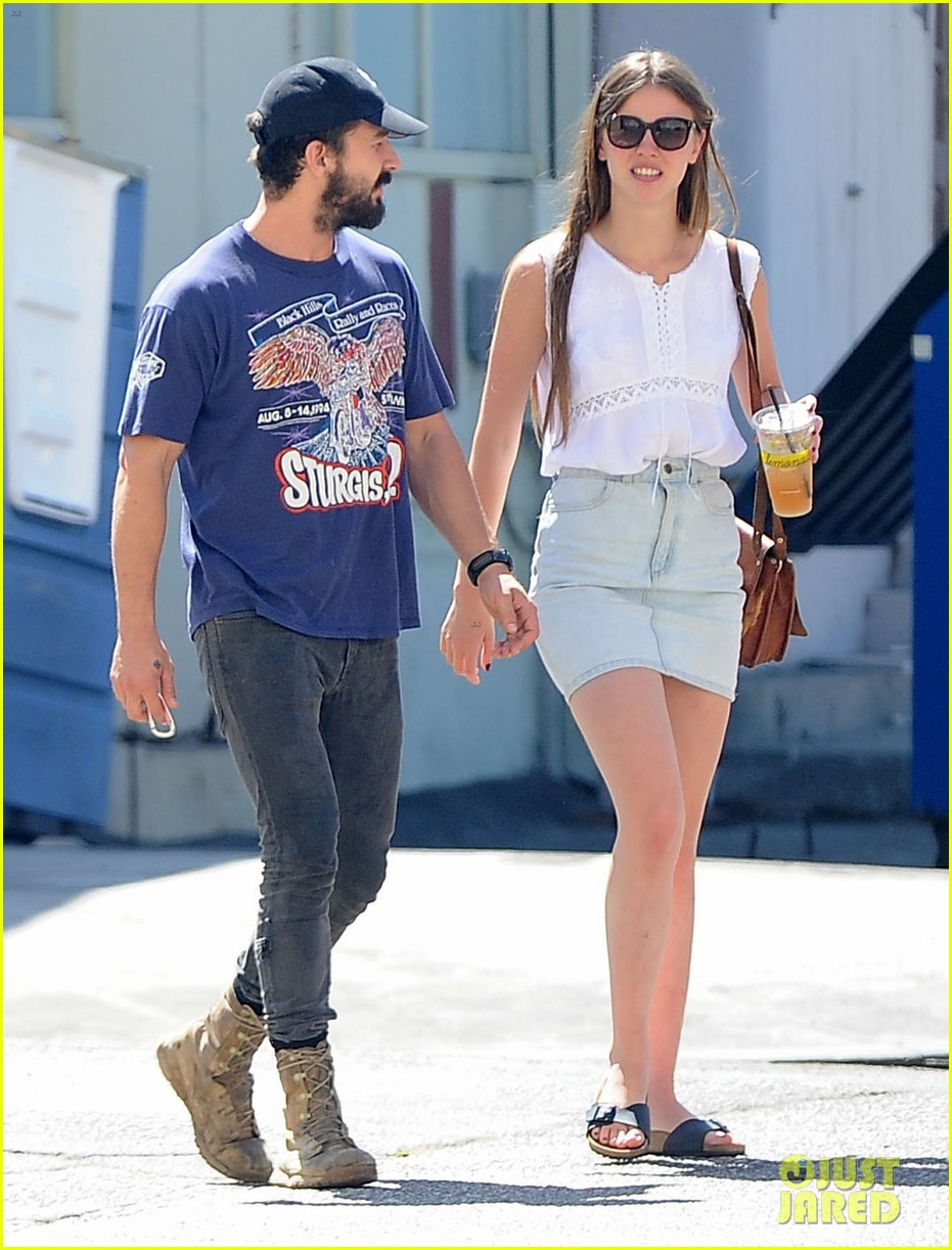 shia labeouf girlfriend mia goth lemonade lunch lovers 203186969