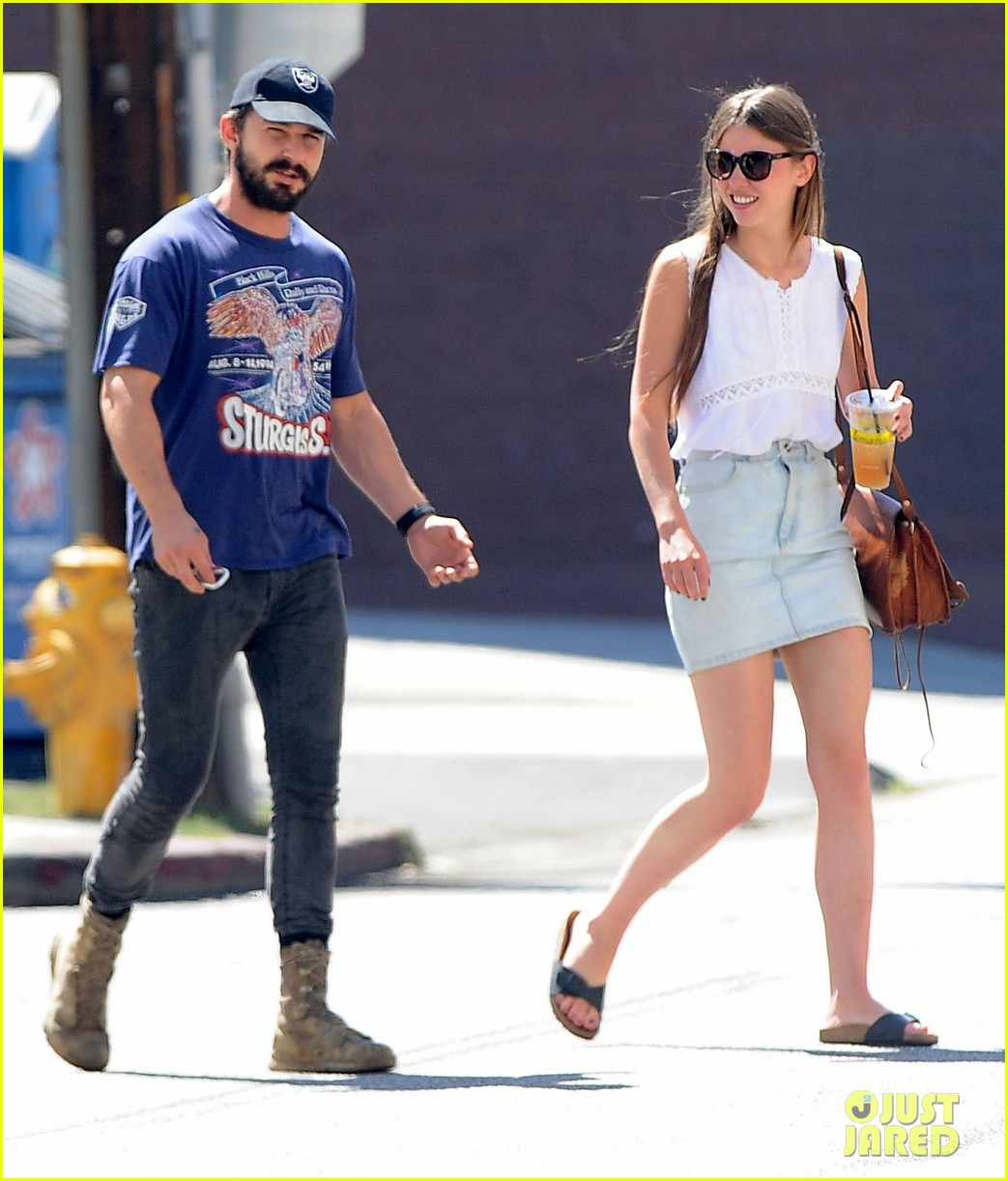 shia labeouf girlfriend mia goth lemonade lunch lovers 223186971