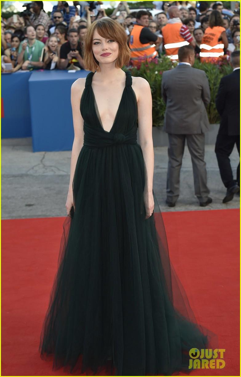 emma stone low cut dress for birdman venice premiere 233184863