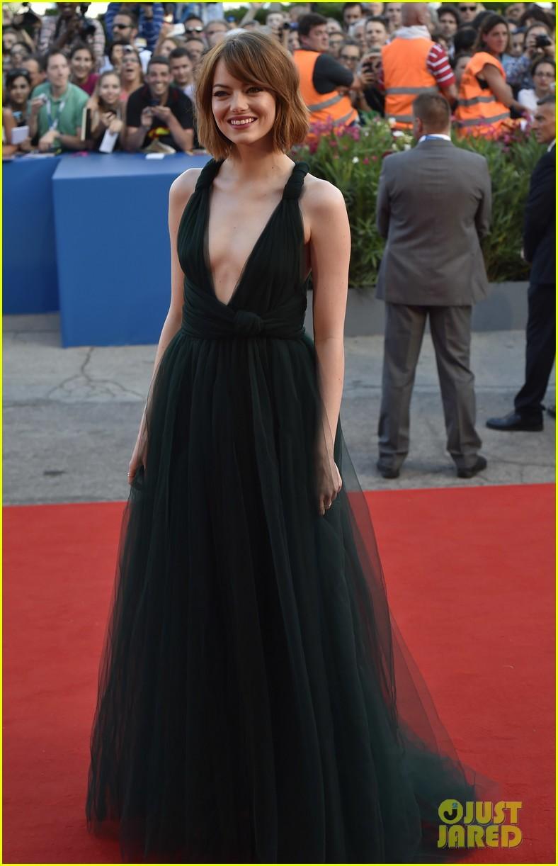 emma stone low cut dress for birdman venice premiere 243184864