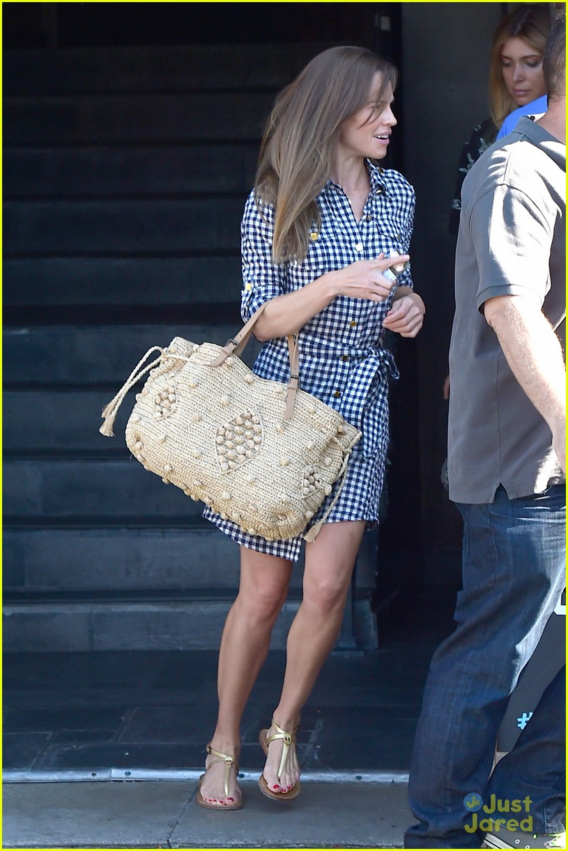 hilary swank laughing after coffee 023179986