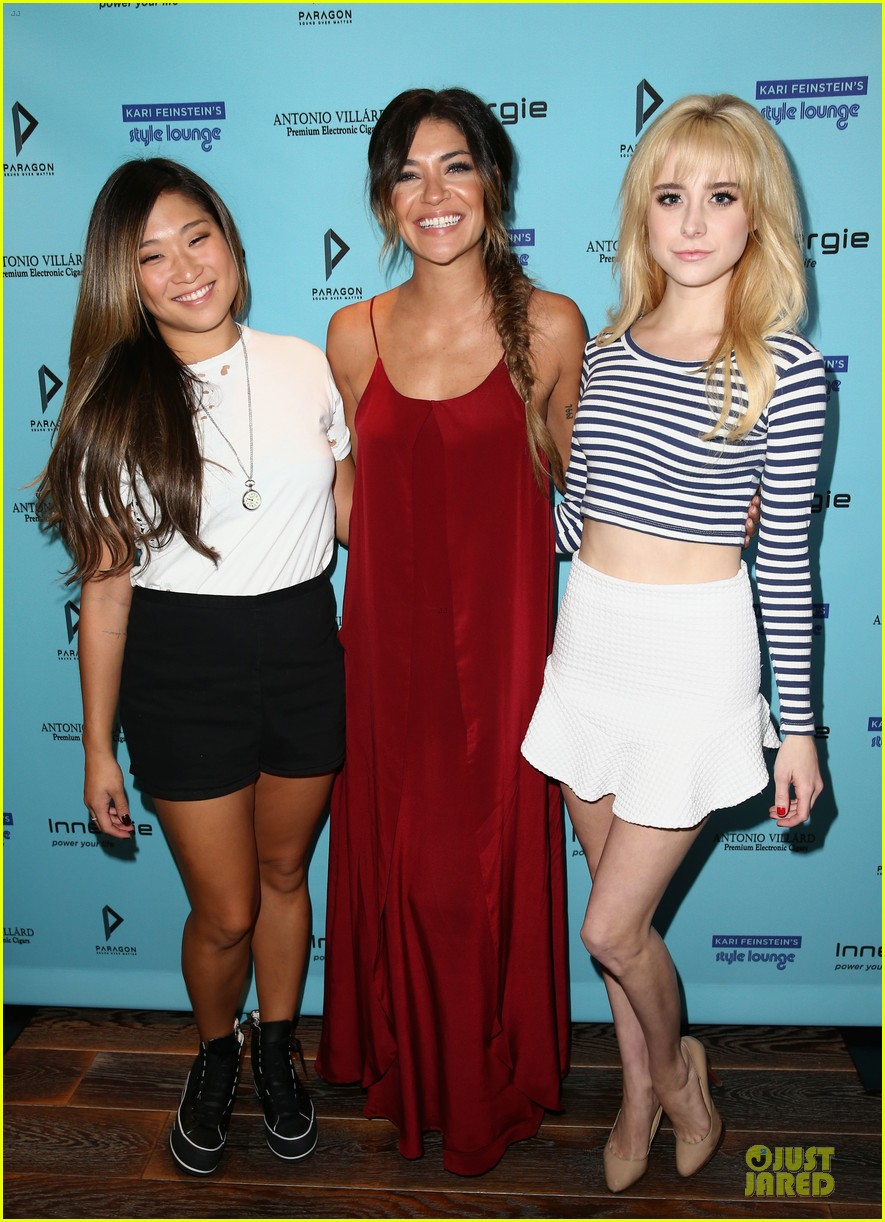 jessica szohr jenna ushkowitz meet up at kari feinstein lounge 013181954