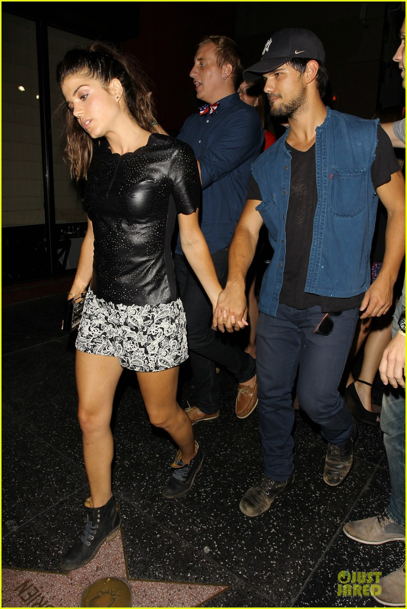 taylor lautner marie avgeropoulos strong hollywood 033181554