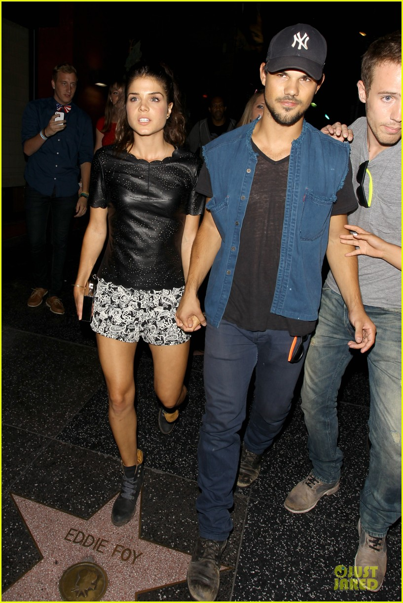 taylor lautner marie avgeropoulos strong hollywood 103181561