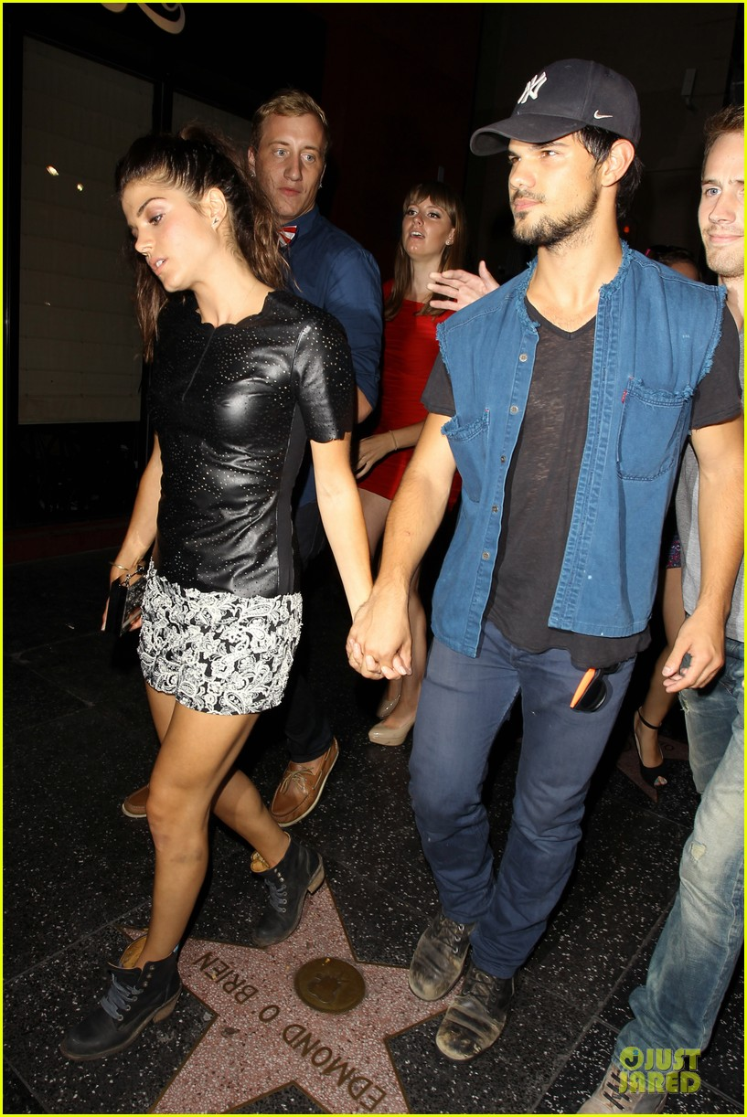taylor lautner marie avgeropoulos strong hollywood 143181565