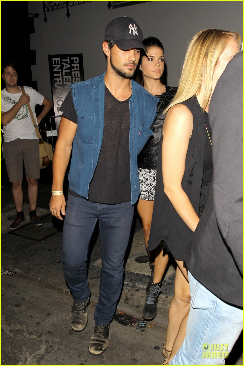 taylor lautner marie avgeropoulos strong hollywood 163181567