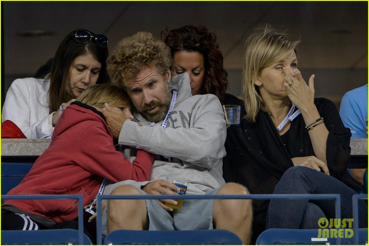 will ferrell busy beard family us open 01