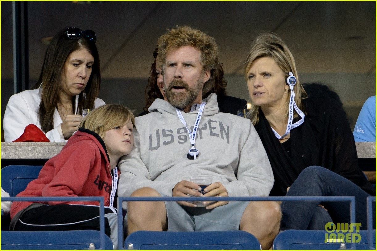 will ferrell busy beard family us open 073186685