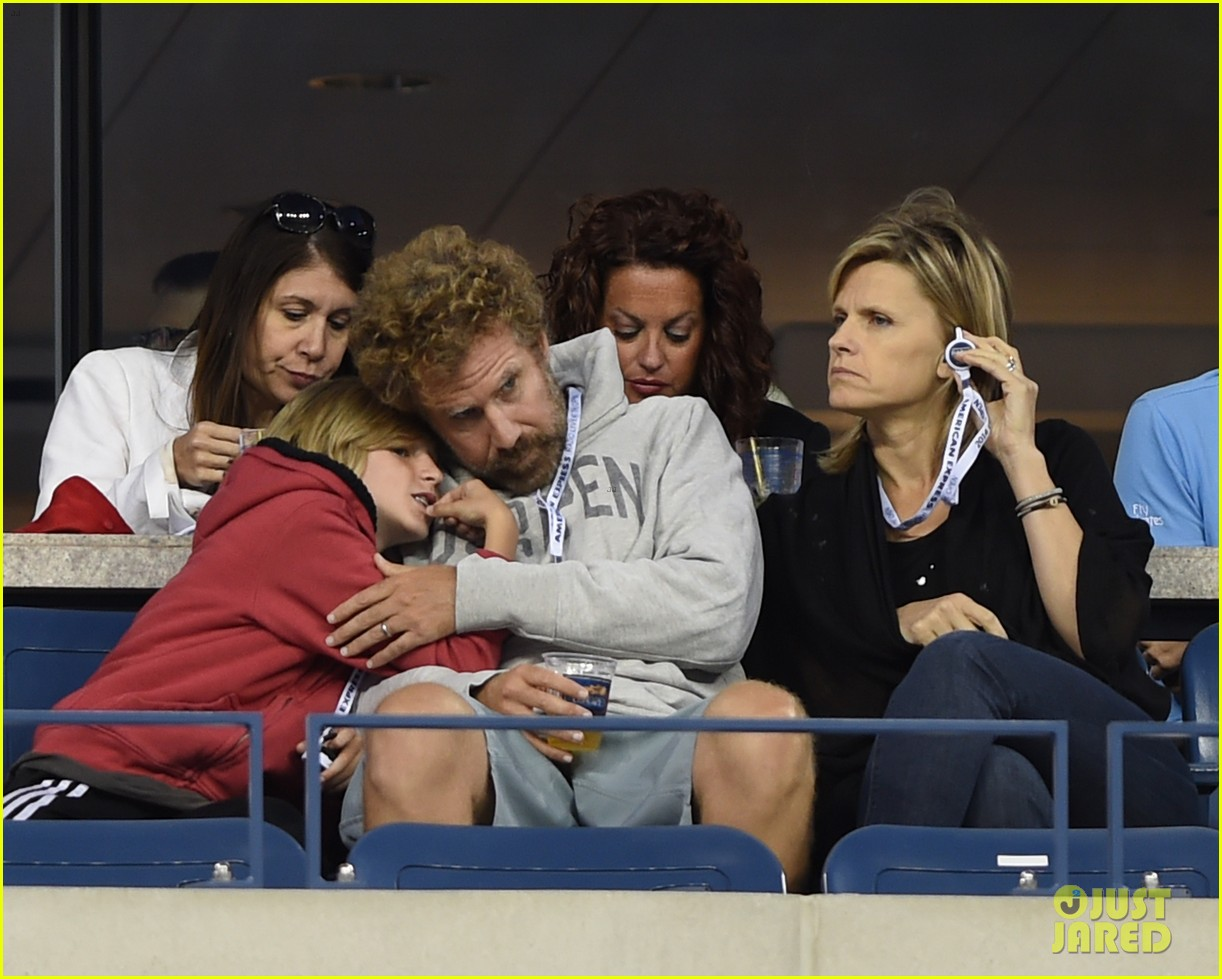 will ferrell busy beard family us open 103186688