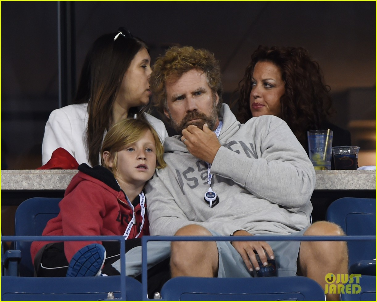 will ferrell busy beard family us open 15
