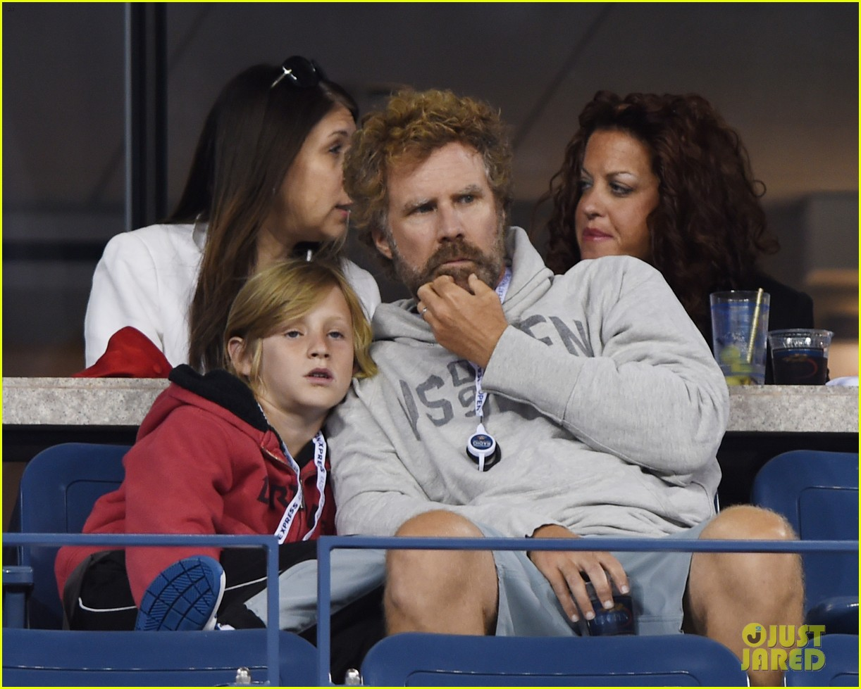 will ferrell busy beard family us open 163186694