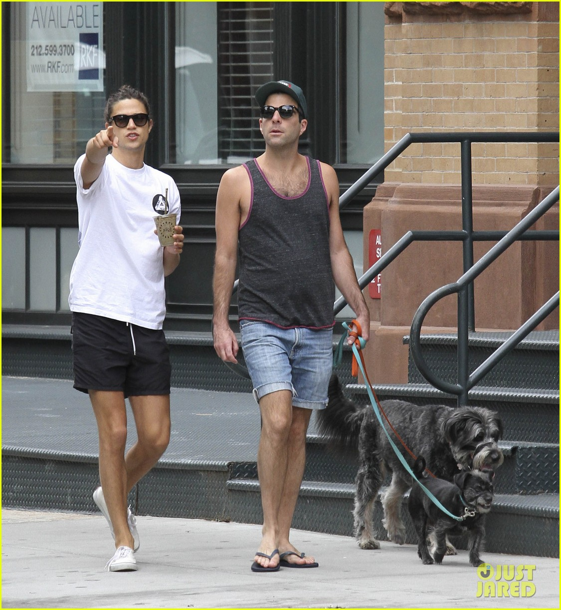 zachary quinto boyfriend miles mcmillan dog walk tribeca 043182222