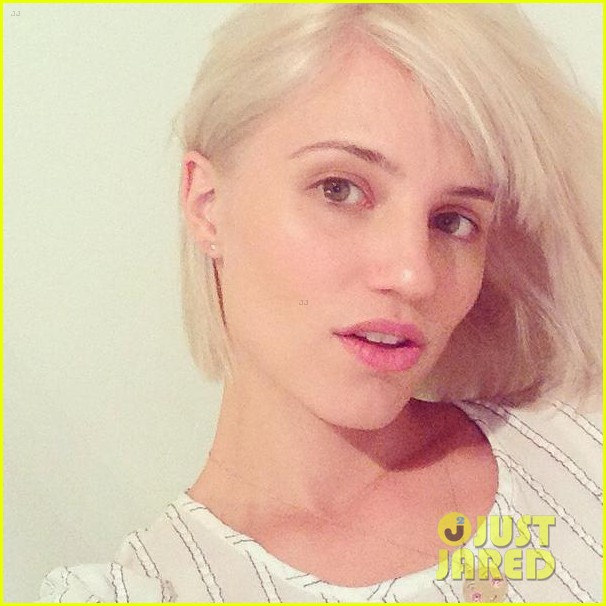dianna agron platinum hair debut 033187480