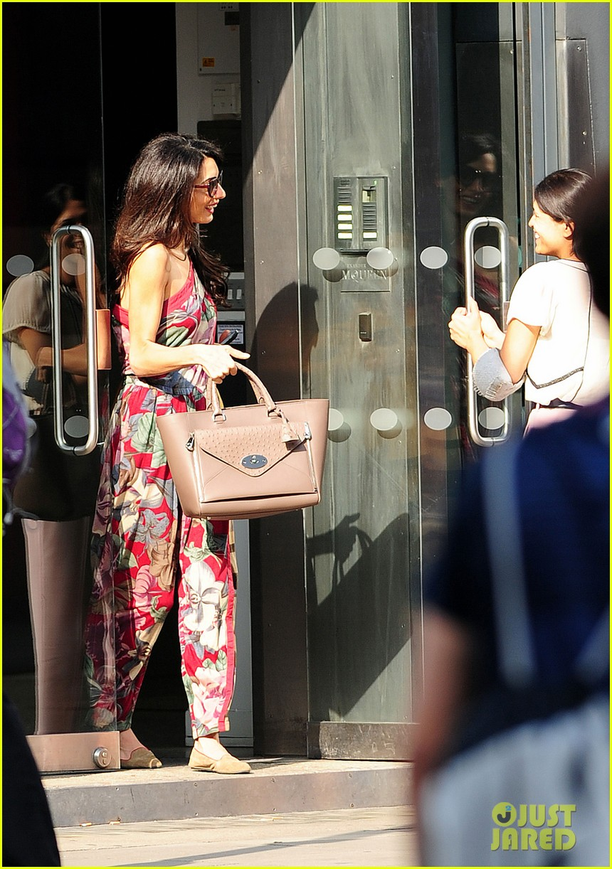 amal alamuddin goes for a fitting at alexander mcqueen 053189365
