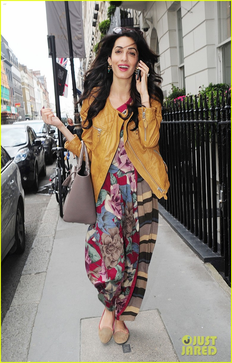 amal alamuddin goes for a fitting at alexander mcqueen 143189374