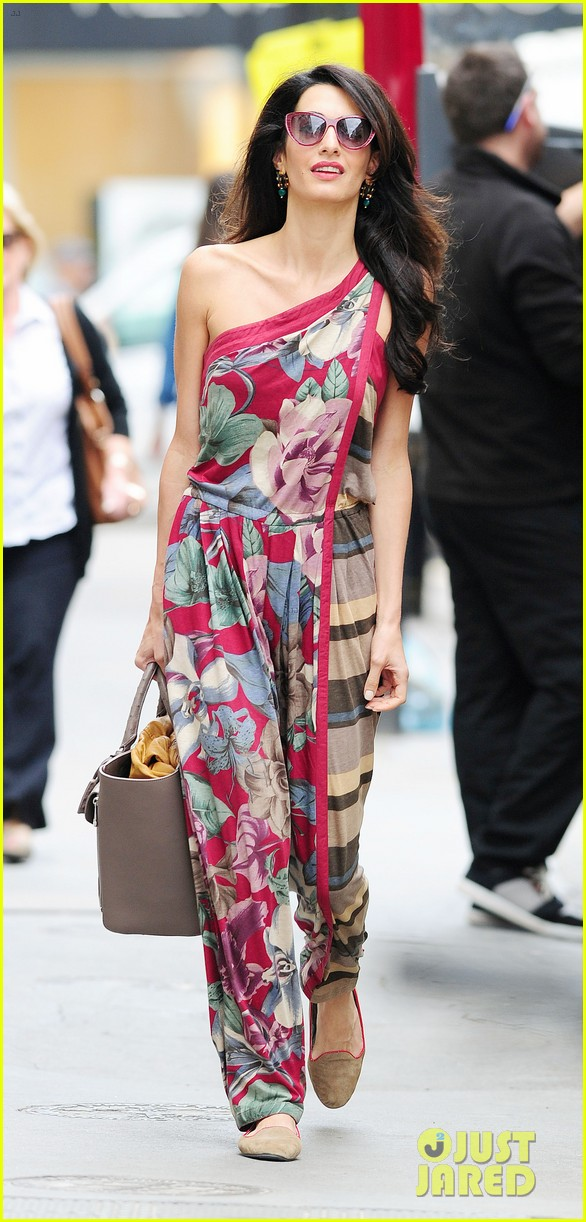 amal alamuddin goes for a fitting at alexander mcqueen 203189380