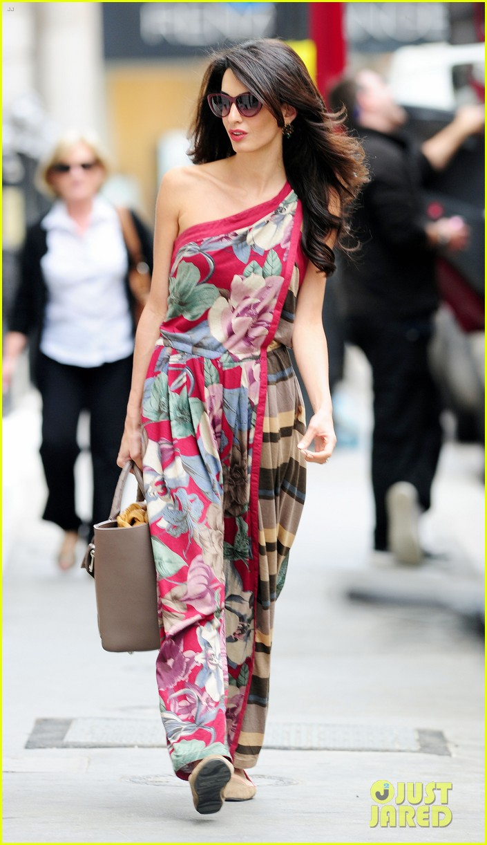 amal alamuddin goes for a fitting at alexander mcqueen 233189383