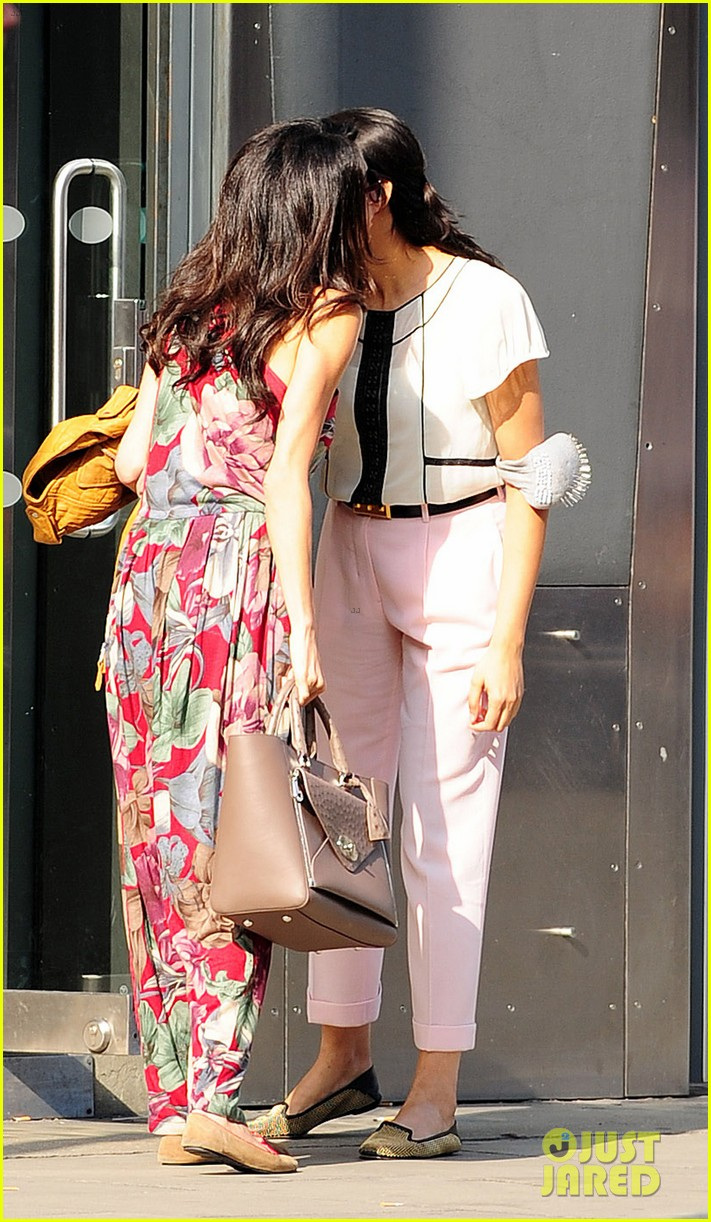 amal alamuddin goes for a fitting at alexander mcqueen 253189385