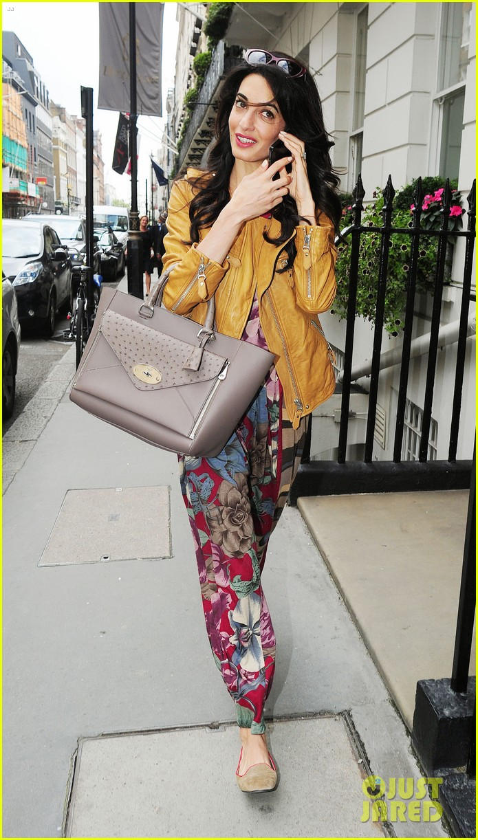 amal alamuddin goes for a fitting at alexander mcqueen 273189387