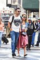 jessica alba cash warren pack on pda in nyc 01