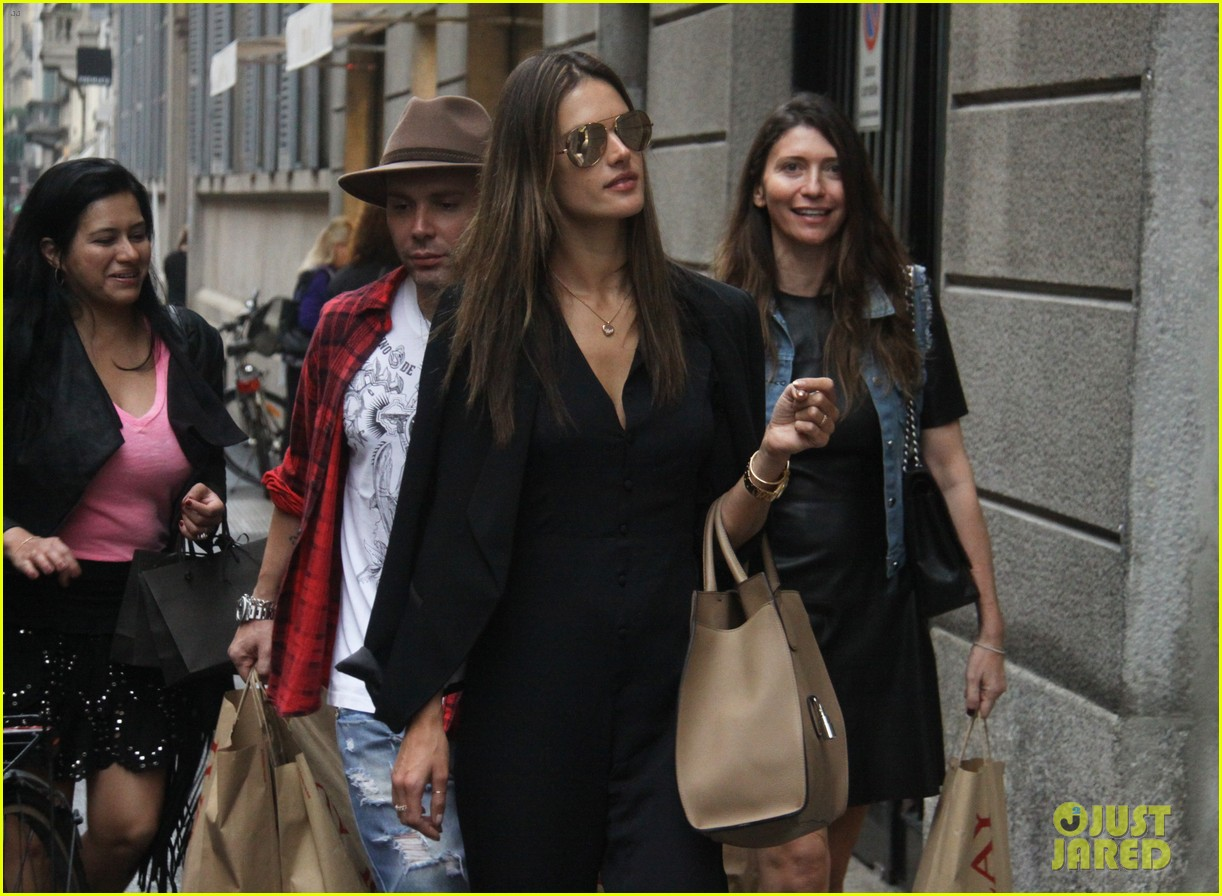 alessandra ambrosio fashion replay during milan fashion week 043201081