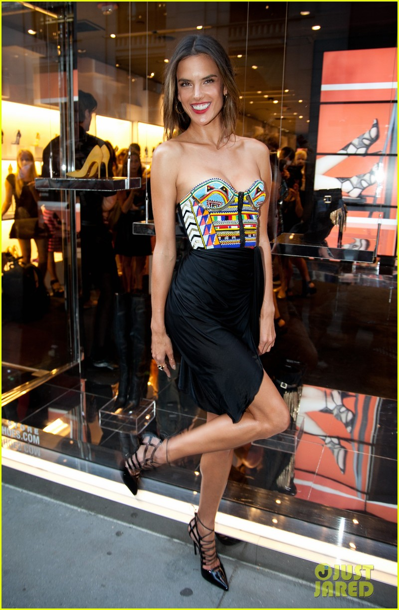Alessandra Ambrosio Puts Her Legs For Days On Display For