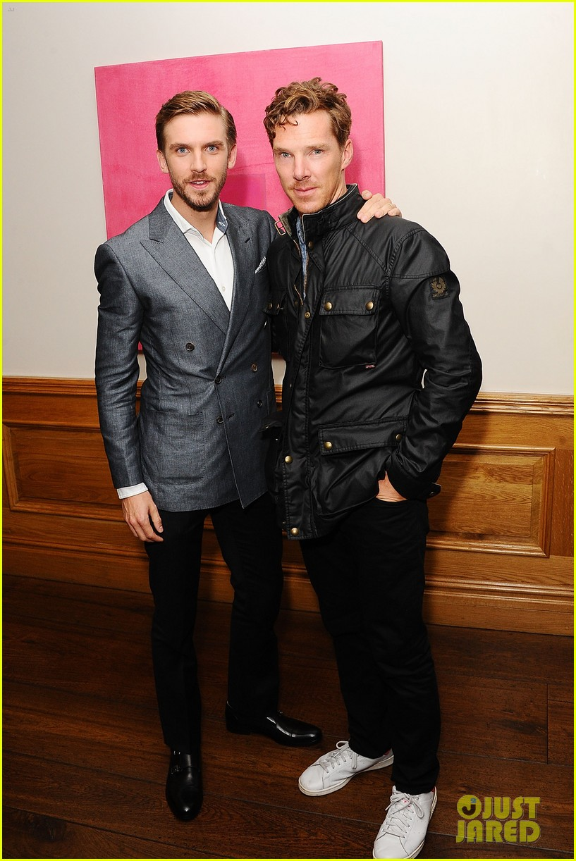 benedict cumberbatch supports dan stevens at the guest screening 043187546