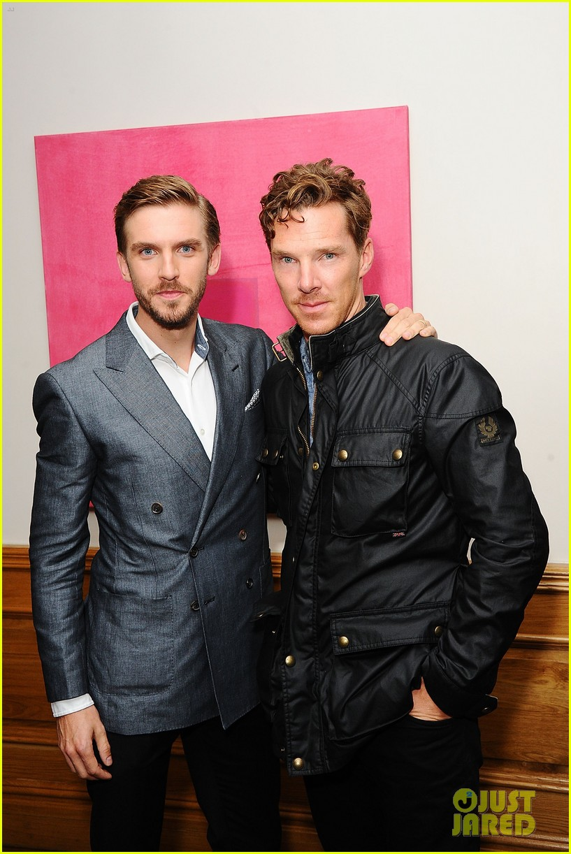 benedict cumberbatch supports dan stevens at the guest screening 093187551