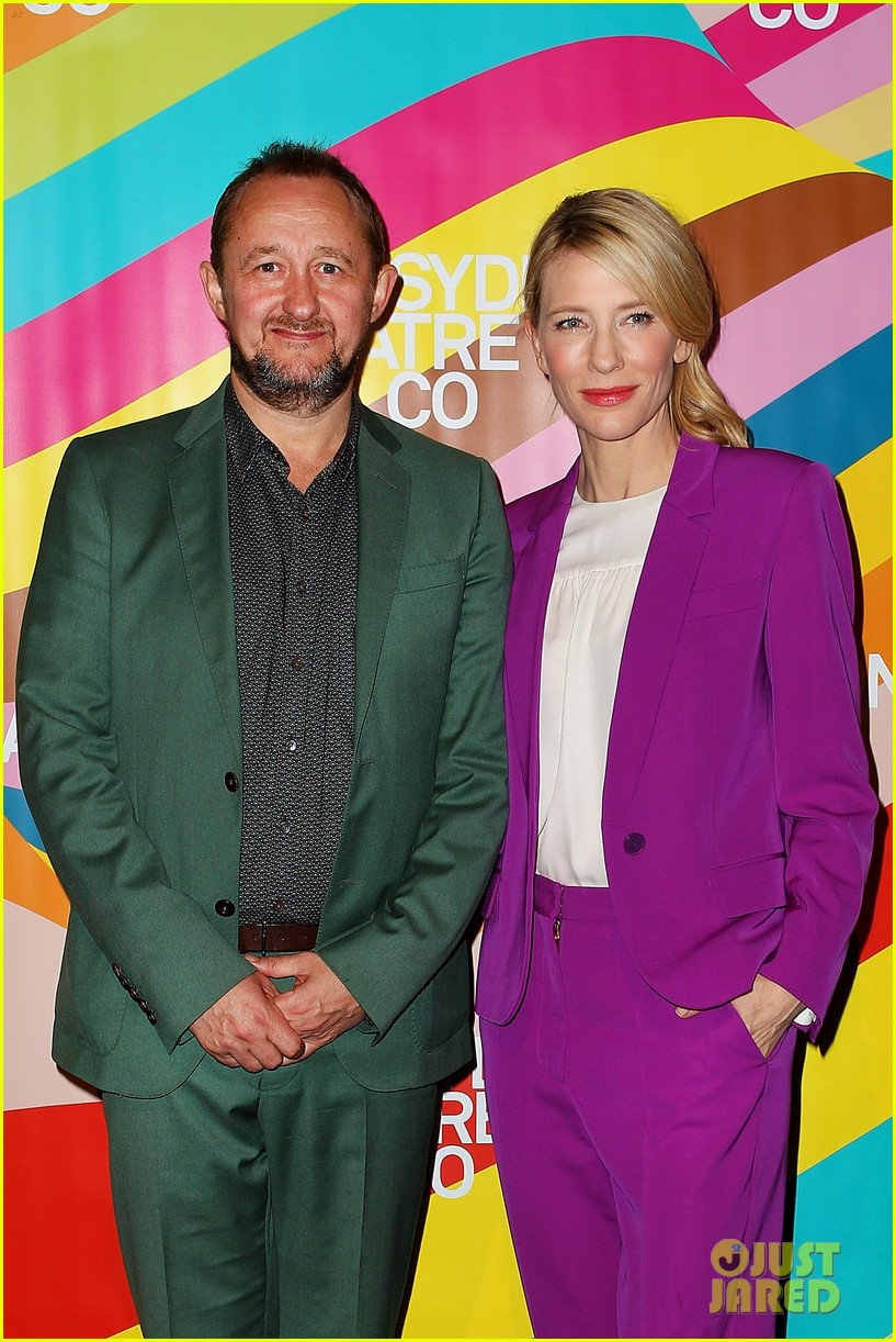 cate blanchett wears bright purple pantsuit sydney theater company 013189042