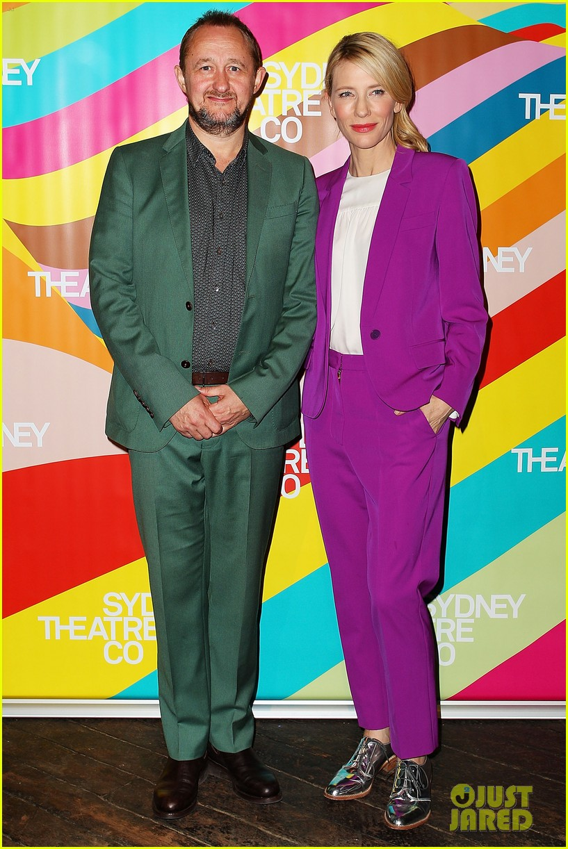 cate blanchett wears bright purple pantsuit sydney theater company 053189046